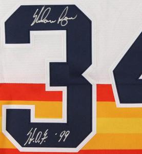 "Nolan Ryan İmza Jersey gömlekler yazılı ""H.O.F. '99"" signaturer signatured Signed"