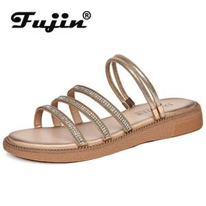 Fujin diapositive Piattaforma per Scarpe spiaggia sandles Stripper delle donne High Heel molle di estate scarpe comode sandali delle donne