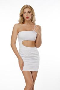 Женщины Bodycon Платья Midriff Pure Multi Color Summer Party Club Сексуальный стиль Европейский Ветер Мини платья