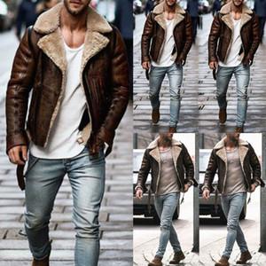 Kış Erkek Deri Yün Coat Trençkot Dış Giyim Palto Uzun Kollu Ceket Üst