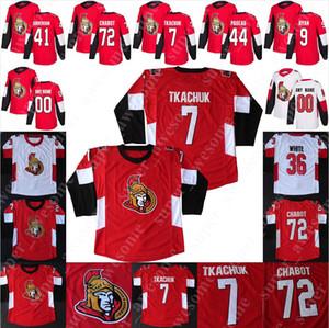 Ottawa Senators Jersey Brady Tkachuk Thomas Chabot Craig Anderson Bobby Ryan Jean-Gabriel Pageau Nikita Zaitsev Mark Borowiecki Colin Branco