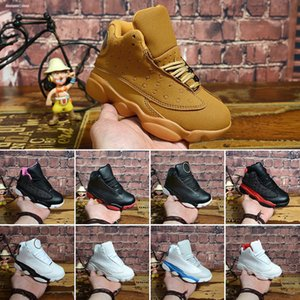 Top Quality 13s Childrens Basketball Shoes 13 Chicago GS Hyper Royal Black Cat Flints Bred Brown Kids Boy jumpman shoes Sneakers Size 28-35