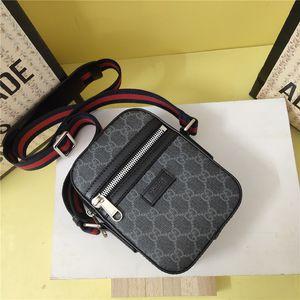 Hot Verkauf Reißverschluss Taille Brust Taschen Männer aus echtem Leder diagonale Handtasche Kurier-Beutel für Mann