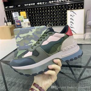 Homens mais recente sapatos desportivos elemento Camouflage casuais Low-top lace-up de espessura altura sapatos sola sportswear aumentando sapatos, Packing Matching
