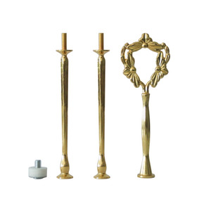 3 Tier Cake Plate Stand Handle Hardware Fitting Holder New shape Cupcake Plate Serving Dishes Stand Handle Fitting Wedding Party Table Decor