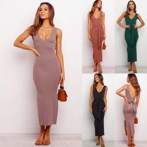 Western-Stil neue Kleidung der Frauen 2020 Frühling und Sommer Europa und Amerika reizvolle Art und Verbandwestekleid