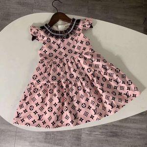 kol marka Kız Elbise yaz Batılı kızlar fırfır Giyim kaliteli çocuk kız prenses parti elbise kıyafet