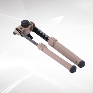 AR15 için yeni Çekilebilir bipods Taktik MAG keymod M-lok 1913 Picatinny raylı Naylon çıkarma atıcı TAN bipod airsoft