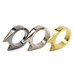 New Portable Size Women Men Safety Survival Ring Tool EDC Self Defense Metal Alloy Ring Finger Defense Tool Color Random