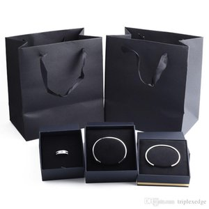 Marca caja de la joyería caja de regalo original pulsera anillo que contiene la marca de joyería caja de la bolsa de asas de la factura certificado