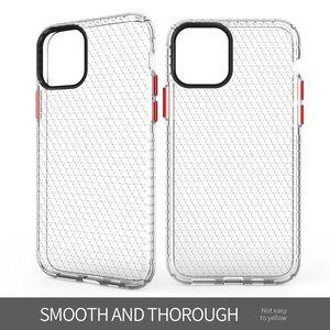 Cassa del telefono per la copertura di iPhone 11 Pro sottile e morbida di TPU Honeycomb spazio all-inclusive di protezione paraurti caso