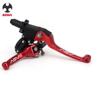 ASV F3 2nd ShortAlloy freio alavanca do guidão da embreagem para Motocross Pitbike Pitbike Da Motocicleta Pit Bicicleta Universal Patrs Vermelho