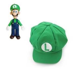 Super Mario Bros Anime Cosplay Red Cap Tag Super cotton hat hats Luigi hat Baseball Hats 5 colors Free Shipping