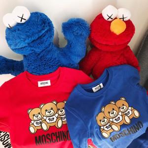 Kid Designer Hoodie Kids Top 19 Explosion Boy Suéteres de lujo Jersey Ropa para niños Patrón de osos de lujo Cartas de moda Suéter de niña