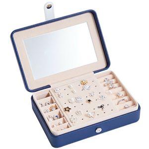 Schmuck-Box Schmuck-Spielraum-Organisator-Verfassungs-Jewel-Box mit Spiegel Comestic Schmuck-Anzeigen maquillaje organizador