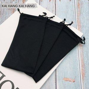Accessorio panno del telefono mobile fatto a mano occhiali di telefonia mobile accessori del sacchetto pura occhiali neri bag