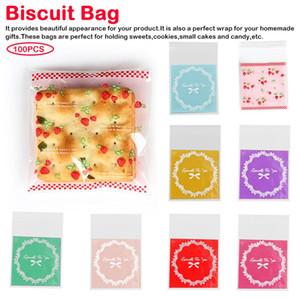 100pcs / bag Bäckerei Süßigkeit Keks-Geschenk-Beutel Selbstklebende Transparent Cellophane Druckverschlussbeutel Handgemachte Seife Verpackung