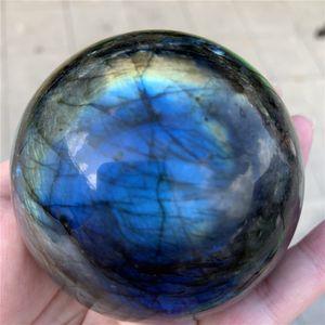 70--80 мм радуга натуральный лабрадорит камень хрустальный шар хрустальный шар сфера хрустальные целебные ремесла домашнего украшения художественный подарок