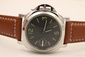 Top Mens mão-Winde Movimento Relógio Mecânico Men Luminous PAM 00111 Relógios 44 milímetros Pam Esporte fábrica de couro Relógios de pulso