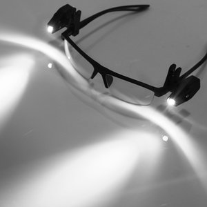 Portatile universale flessibile libro di lettura Luci LED per occhiali Clip On Mini Lamp libro Bambini Luce Per Occhiali Strumento