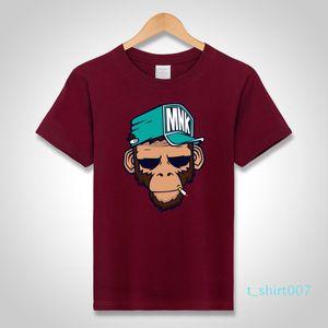 mens designer t shirts cool T-Shirts Cotton Plus Size 5XL Tees monkey print Short Sleeve Men T Shirts Male TShirts Camiseta Tshirt t07
