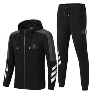 Trendy Brand Designer Mens Tracksuit Zipper Jacket + Pants Sets Women Hoodie Sportswear Running Tracksuit Jogger Pants L-5XL 20033106L