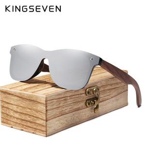 Kingseven 2019 Herren Sonnenbrille Polarized Walnut Wood Mirror Lens Sonnenbrille Damen Brand Design Bunte Schattierungen Handmade Y19052001