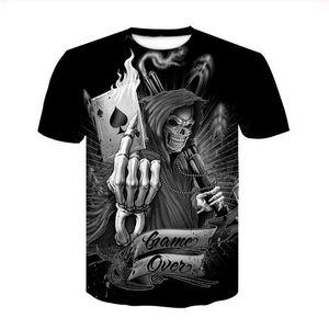 2020 Popular Fashion Summer Style Shirt Skull Poker Men Short Sleeve Tee 3D Printed T Shirts Men Women Couples Shirt S-7XL XS0323