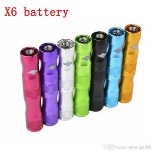 X6 BATTERIA Sigaretta elettronica 1300mAh Tensione regolabile 3,6 V 3.8 V 4.2 V Adatta tutto EGO 510 IC30S CE4 VAPorizer Atomizzatore CE4