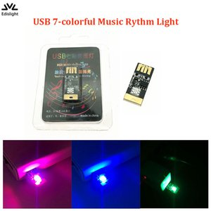 1Piece T10 USB LED Atmosfera acústica colorida Light Touch Mudar Cor Ajdusting Brilho Car Styling Fonte Mood Lamp
