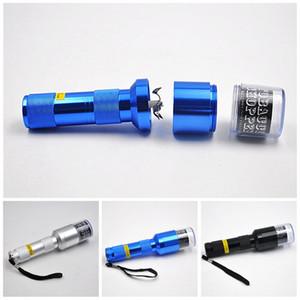 Bardian électrique Filtre Grinder avec Herb automatique à sec métal lampe de poche en alliage Crusher Noir Sliver Grinders Smoking couleur 17 4YH E1