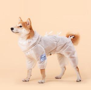 Ropa protectora para perros de mascota ventilatoria para caminar al aire libre Parada de bacterias Perro Perro Ropa Polvo Aparato Traje Equipo de protección para mascotas