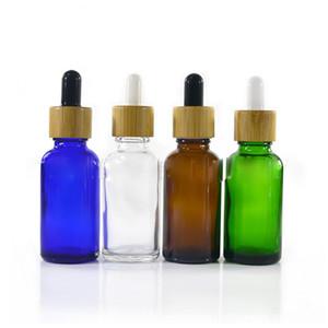 미국 CA 영국에서 E 액체 에센스 핫 세일 대나무 스포이드 병 30 ml의 유리 피펫 유리 병