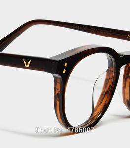 Marco suave MILAN vidrios ópticos de las lentes de la vendimia Acetato Oliver Gafas de lectura mujeres y hombres tortuga Gafas Marcos