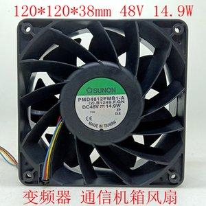 Jianzhun 12cm12038 48V dupla bola de fãs PMD4812PMB1-A inversor de ventilador caso de comunicação