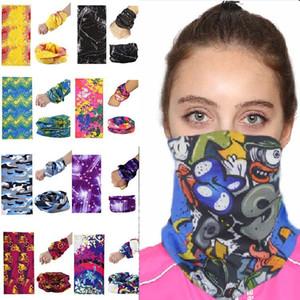200 stili Sciarpa di riciclaggio maschera maschere antipolvere maschere per il viso maschere all'aperto Foulard sci vento Cap Passamontagna moto del partito del fronte HH7-1351