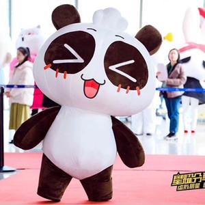 Парад событий карнавала костюма панды подиума красной ковровой дорожки раздувной милый раздувной танцуя костюм панды для взрослого
