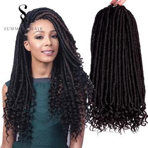 لينة أقفال goddness 18 بوصة 100٪ كانيكالون الألياف الاصطناعية الشعر الكروشيه بومبا فو locs الروح مجعد أنابيب للنساء السود