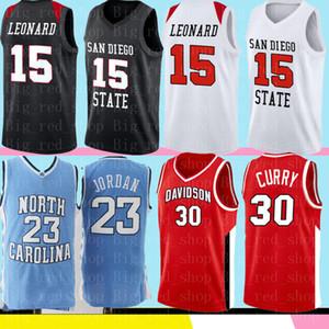 San Diego State aztecas Colegio Kawhi Leonard 15 NCAA Jersey Curry 30 35 23 Durant LeBron jerseys del baloncesto