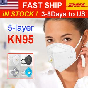 DHL Livraison rapide US Export Licensed usine Masque Masque pliant visage avec certification qualifié Anti-poussière Masques d'approvisionnement en gros