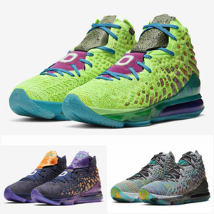 Mejores Lebron 17 XVII Sr. Swackhammer y extraterrestres Space Jam James zapatos de baloncesto Negro verde I Promise Kids Men Deportes Almacén de zapatos