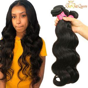 8A Indian Virgin Hair Body Wave 3 or 4 Bundles 100% Indian Body Wave Hair Human Hair Bundles Natural Color