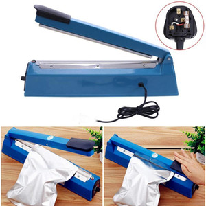 Manual Impulse Heat Sealer Poly Bag Machine Plastic sealing machine Pressing plastic sealing machine vacuum food sealers home