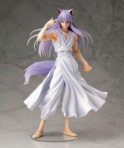 wholesale Anime Figura 25 CM YuYu Hakusho Demone Volpe Kurama 1 8 Scare Action PVC Figure Collection Giocattoli regalo Di Natale