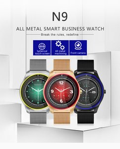 Smart Watch N9 V9 Plus Correa metálica Bluetooth Reloj SmartWatch Soporte Sim TF Tarjeta AndroidIOS Reloj Multi-idiomas PK Y1 KW18