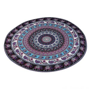 New Qualified Purple Elephant Round Beach Pool Home Shower Towel Blanket Table Cloth Yoga Mat Tablecloth Beach Towel D40Au2 Cleaning Supplie