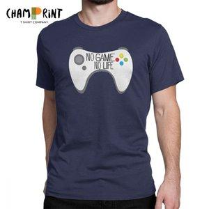 Hipster No Game No Life T-Shirt للرجال يا الرقبة 100 ٪ قطن تي شيرت كم قصير تي شيرت طباعة الملابس