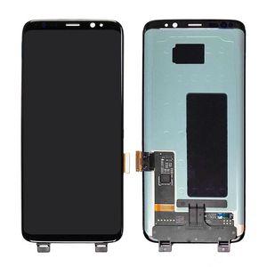 لسامسونج s8 lcd الأسود لسامسونج غالاكسي s8 g950 g950f شاشة lcd محول الأرقام لمس الشاشة g950 lcd لسامسونج s8 عرض
