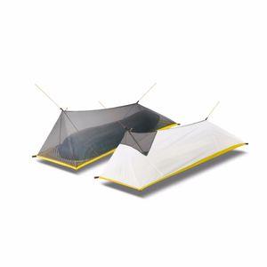 260g Ultralight Açık Kamp Çadır Yaz 1 Tek Kişi Örgü Çadır Vücut İç Çadır Menfez Cibinlik Balıkçılık Turist Için SH190713