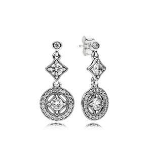 Новая элегантная вечная CZ алмазов серьга стержня для Пандора 925 стерлингового серебра высокого качества темперамент дамы серьги с оригинальной коробкой